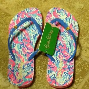 NWT Cosmic Coral Cracked Up flip flops